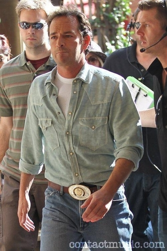 Luke Perry. arriving at The Grove