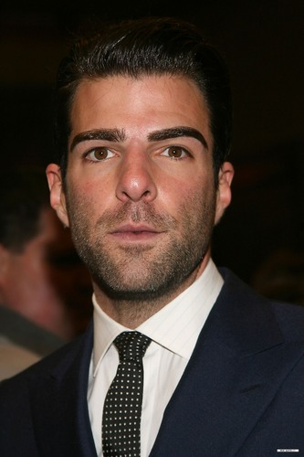 "Zachary Quinto wallpaper containing a business suit, a suit, and a riscas, pinstripe, risca de giz titled ""Present Laughter"" Broadway Opening Night"