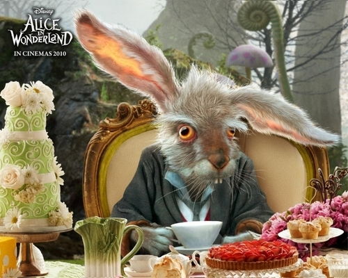 Tim burton achtergrond possibly containing a bouquet and a holiday avondeten, diner entitled Alice in Wonderland achtergrond