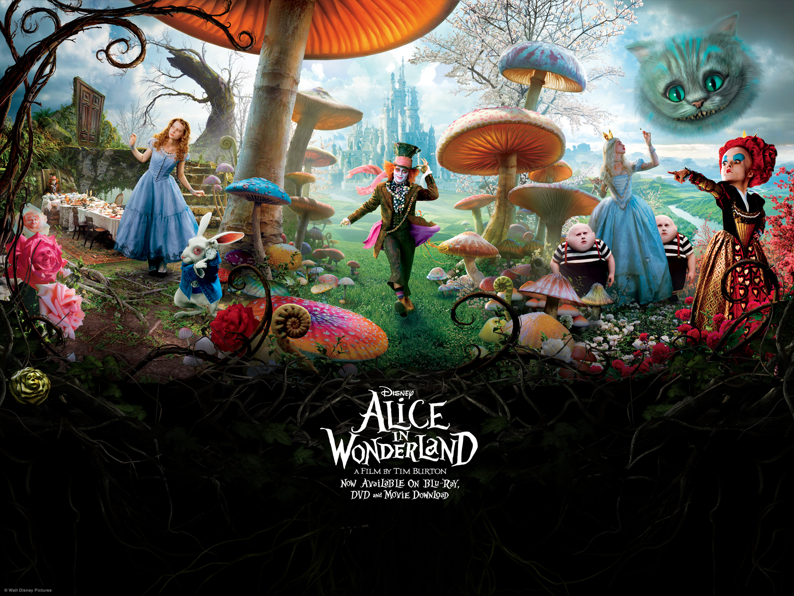 Alice in Wonderland fond d'écran