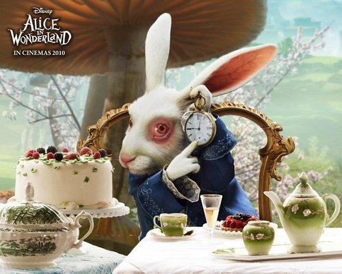 Tim burton wallpaper possibly with a cupcake, a bouquet, and a holiday cena titled Alice in Wonderland wallpaper