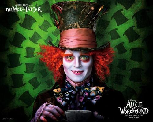 Tim برٹن پیپر وال entitled Alice in Wonderland پیپر وال