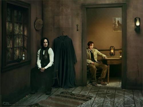 Remus Lupin Hintergrund titled Awaiting Moonlight...
