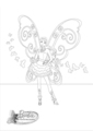 বার্বি A Fairy secret- coloring page
