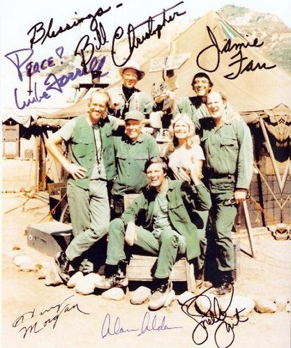 Cast of MASH Autographs - m-a-s-h Photo