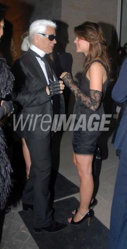 charlotte Casiraghi and Karl Lagerfield
