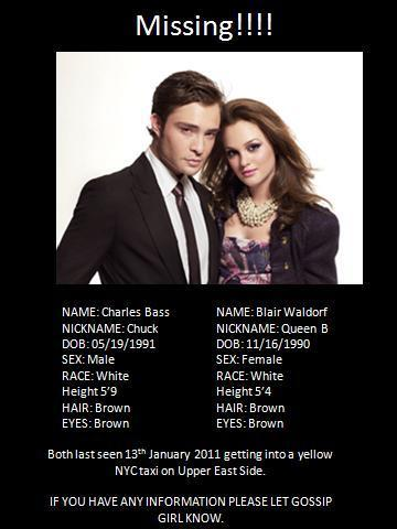 Chuck And Blair Missing Poster!