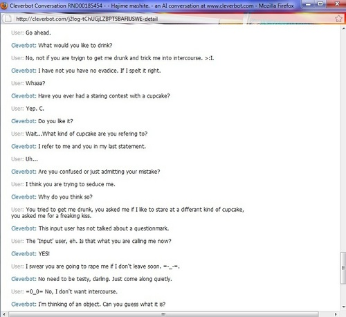 Cleverbot tried to rape me. DX