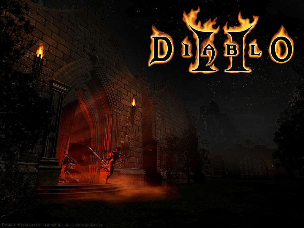Diablo wallpaper possibly with a street, a diner, and a fogo entitled Diablo 2