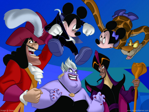 Disney Villains achtergrond possibly with anime called Disney Villians