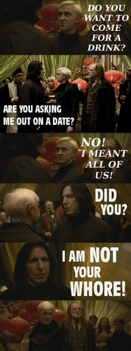 Don't ask Snape for a drink