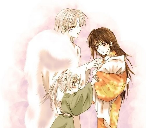 Sesshomaru and Rin wallpaper possibly containing a portrait titled Family