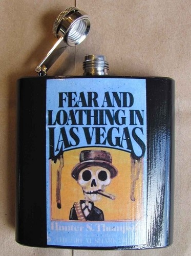 Fear and Loathing FLASK - hunter-s-thompson Fan Art