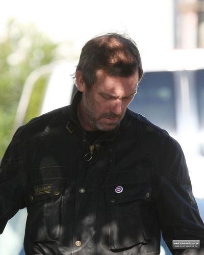 Hugh Laurie taking a ride in LA