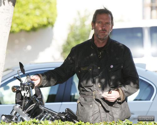 Hugh Laurie taking a ride in LA