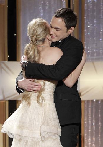 Jim/Kaley hug