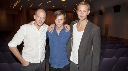 L-R The brothers Skarsgard: Gustaf, Bill and Alexander