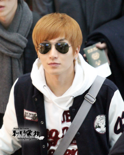 Lee Teuk at I ncheon Airport