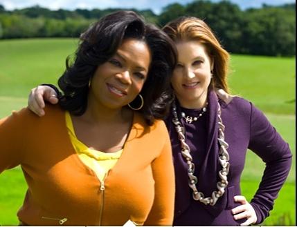 Lisa Marie Presley and Oprah Winfrey