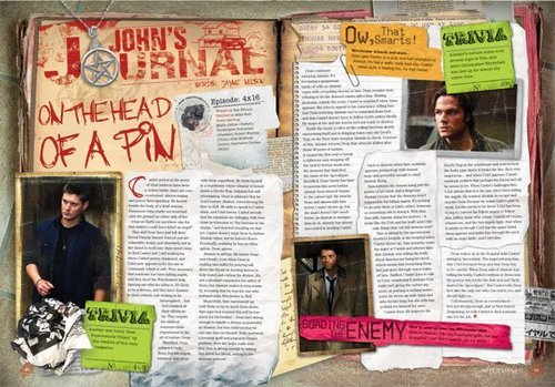 Winchester's Journal wallpaper possibly with a newspaper and Anime called Magazine - Issue 20