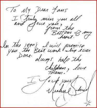 Messages from Michael ♥