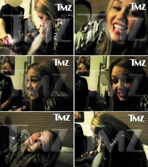 miley cyrus smoking. Miley Cyrus Smoking Salvia !