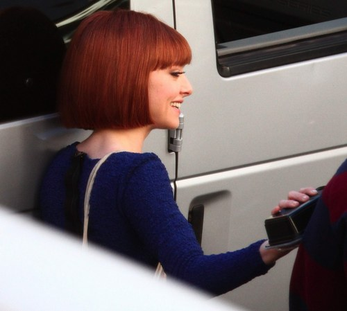 thêm các bức ảnh of Amanda on the set of 'Now' (21st January 2011).