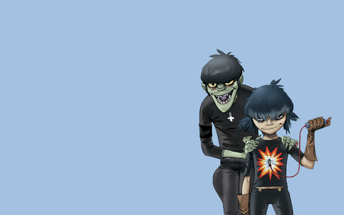 Murdoc and Cyborg Noodle