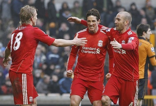 Fernando Torres 바탕화면 probably with a 농구 player, a forward, and a running back called Nando - Liverpool(3) vs Wolverhampton Wolves(0)