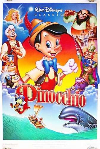 Disney wallpaper containing anime entitled Pinocchio Poster