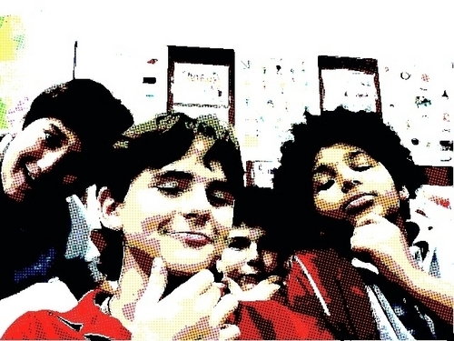 Prince at school with friends