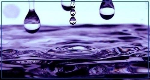 Purple rain drops