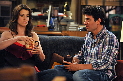 Robin Scherbatsky wallpaper probably containing a brasserie and a sign entitled Robin and Ted