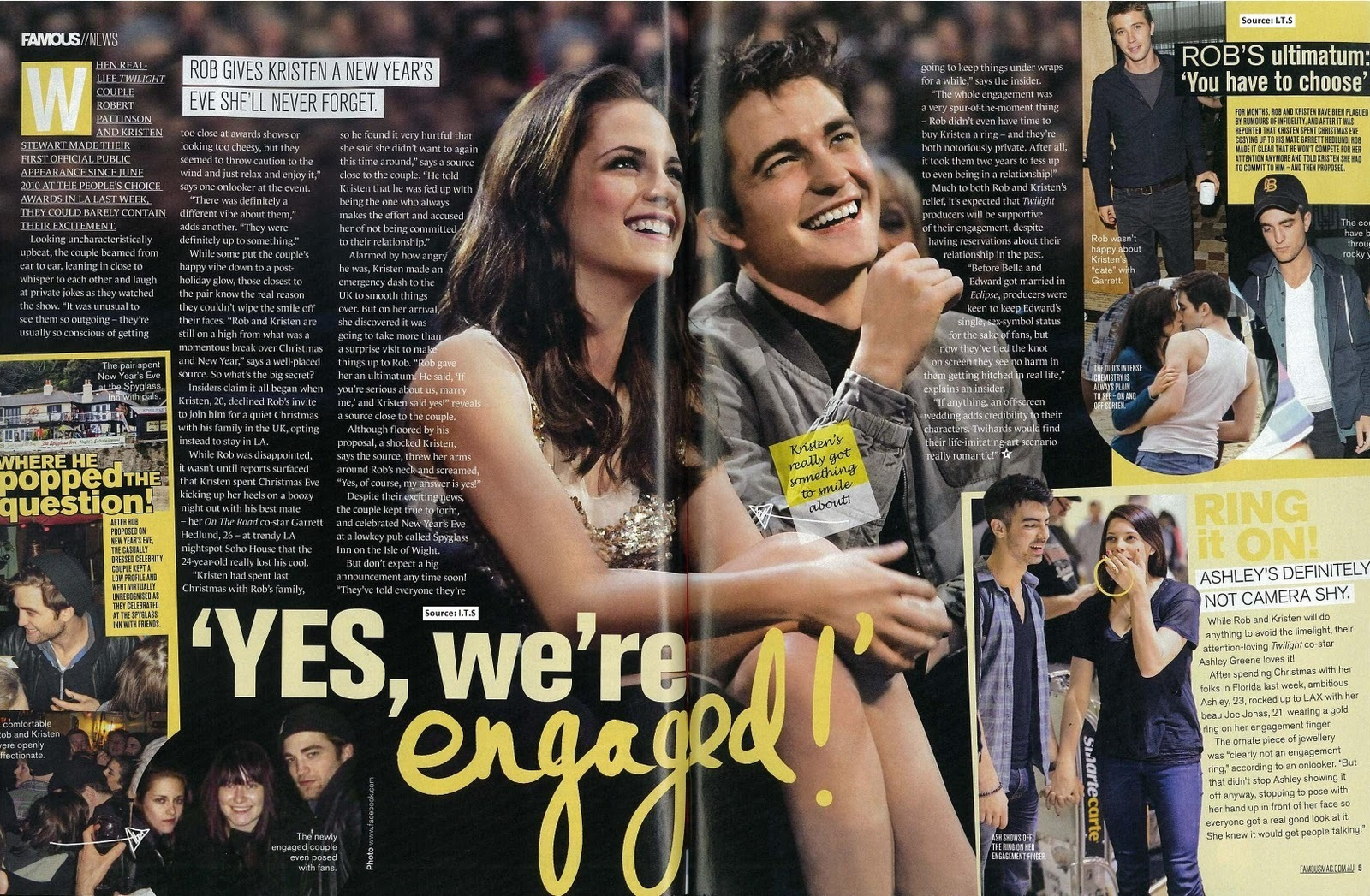 "Robsten ""Yes we're engaged!"""