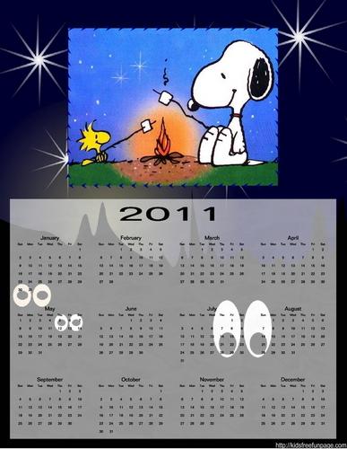 snoopy Calendar 2011