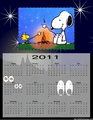 Snoopy Calendar 2011 - snoopy fan art