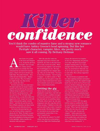 South Africa 'Cosmopolitan' Magazine Scans (Including Interview).
