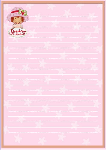 aardbei sprits, shortcake Stationery