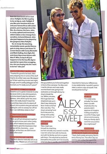Sugar Magazine; Dianna Talks Alex