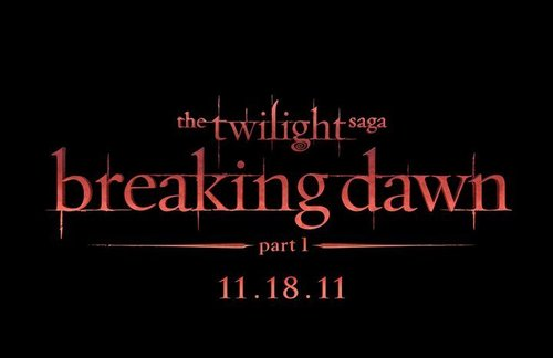 THE TWILIGHT SAGA: BREAKING DAWN - PART 1 title treatment!