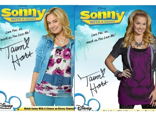 Sonny With A Chance achtergrond probably containing a portrait called Tawni Hart Autograph Season 1 and 2