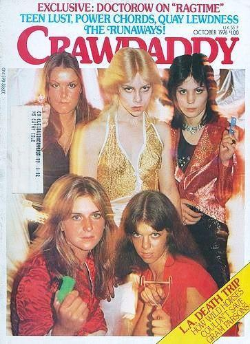 The Runaways on the cover of Crawdaddy - October 1976