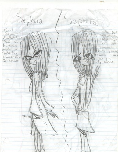 The difference between Sephira and Saphira