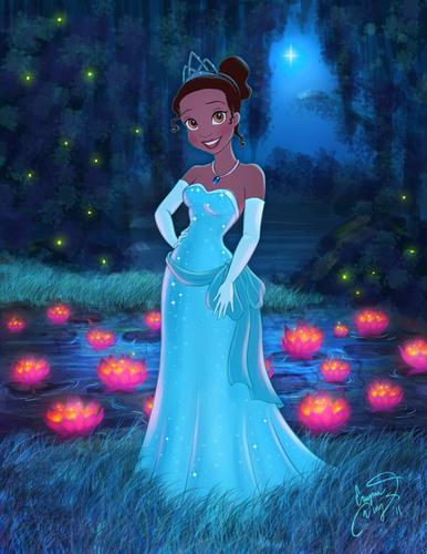 Tiana blue dress