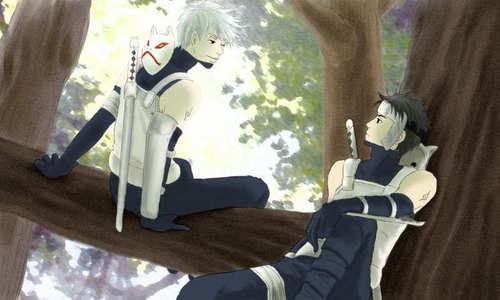 Yamato and Kakashi Hatake