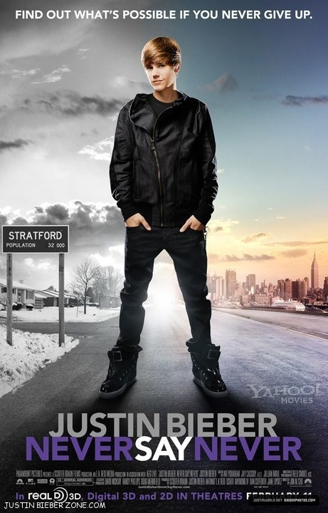 justin bieber movie tickets. justin bieber movie poster.