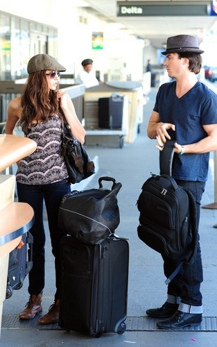 ian and nina at airport