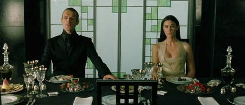 The Matrix 壁纸 containing a 晚餐 table, a breakfast area, and a dining room titled matrix reloaded