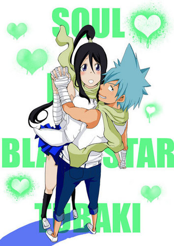 Soul Eater (Пожиратель душ) Обои containing Аниме called tsubaki and blackstar