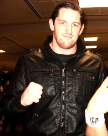 wade barrett black leather
